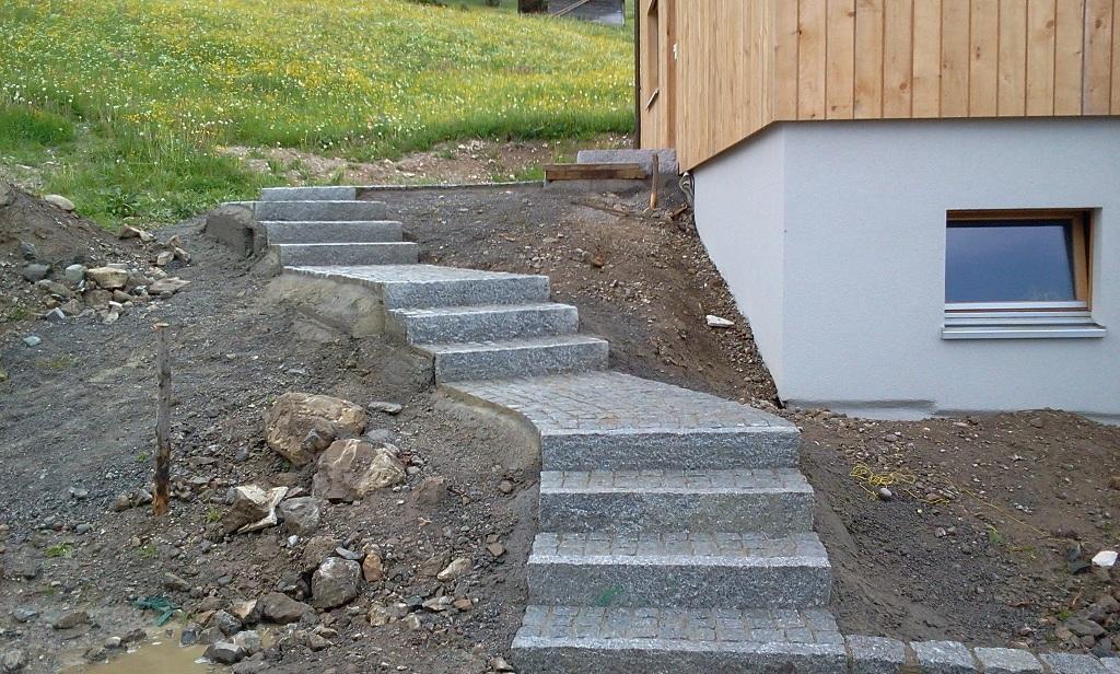 Granit Naturstein Treppe Raggal Austria Naturaflaire